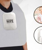 Disposable Paper Bibs with Wipe